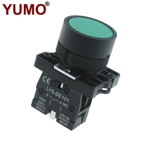 LAY5-EA31 22mm Industrial Electrical Flush Spring Return Green Push Button Switch Industrial Switch
