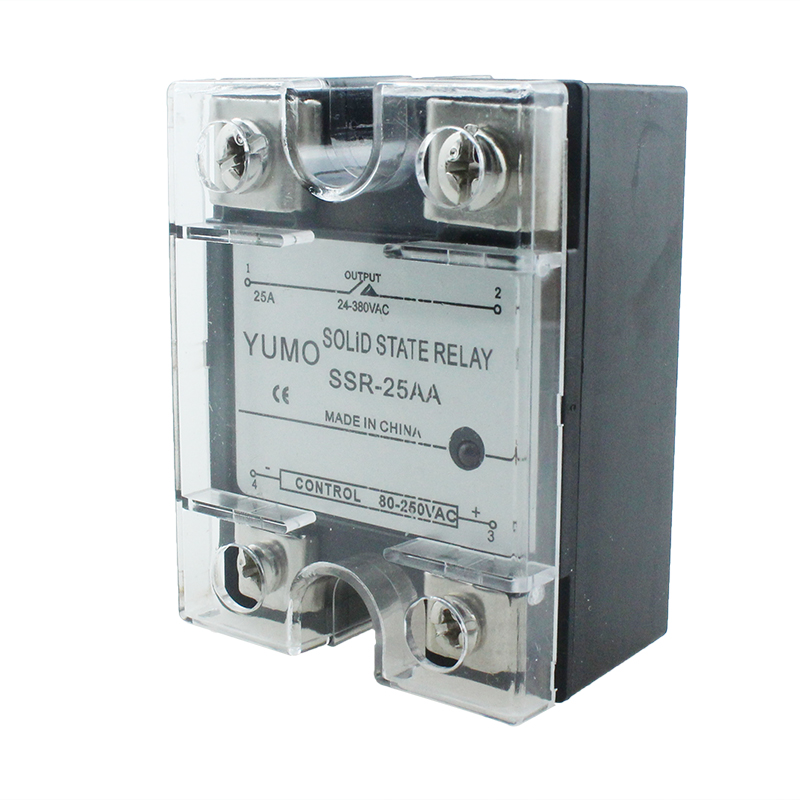 SSR-25AA AC To AC Control Single Phase Output Relay with Safety Cover
