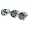 ABS22 IP67 22mm Stainless Steel Maintain Waterproof Ring Led Illuminated Metal Push Button Switch