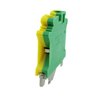 Yellow & Green 6mm USLKG6N Grounding Din Rail Terminal Block