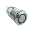 Hot Sale 19mm Ring Illuminated Stainless Steel Metal Push Button