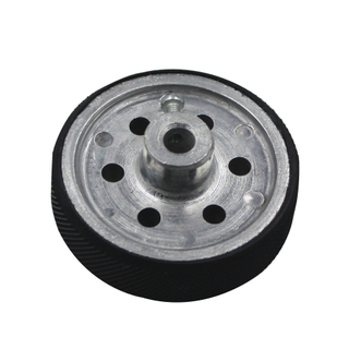 perimeter 200mm (shaft diament 8mm) A set of two wheels aluminum hub encoder wheel