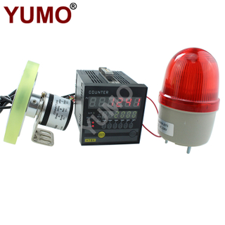YUMO Wheel Speed Recording Meter Counter with Encoder Warning Light