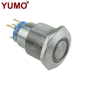 22mm IP67 Momentary Metal Push Button with Ring Led