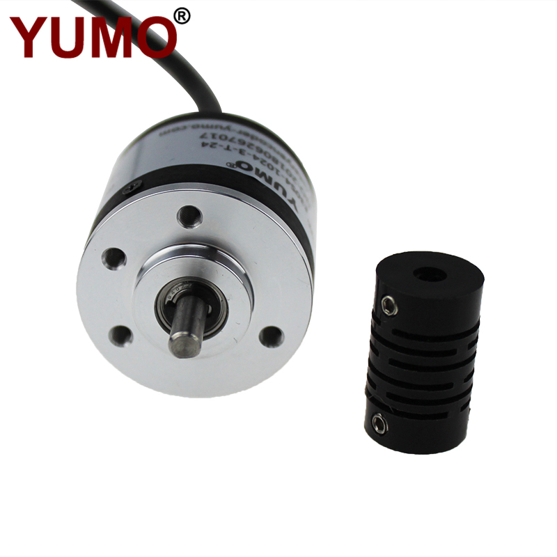 E30S4-1024-3-T-24 1024ppr Totem Pole Output Miniature Shaft Type Rotary Encoder
