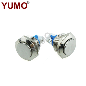 19MM Dome Button 2Pin Screw Terminal Momentary Waterproof Metal Button Switch