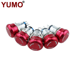 19mm Momentary E-stop Mushroom Push Button Switch