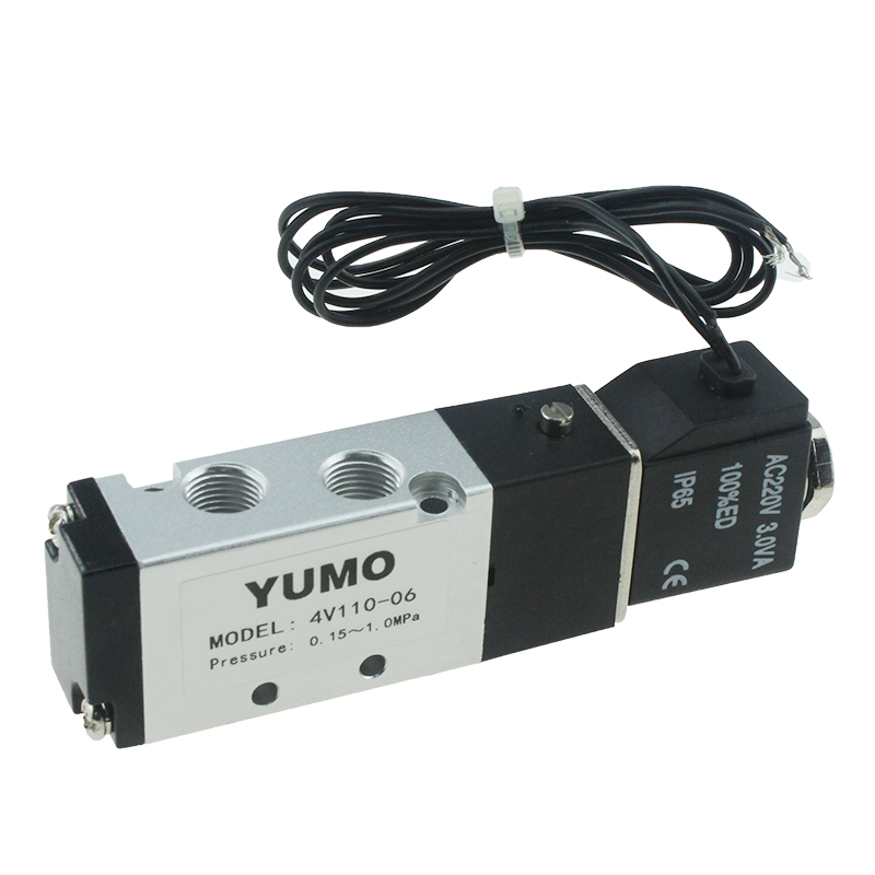 4V110-06 5/2 Way 40 Micron Filtered Control Airtac Type Air Pneumatic Solenoid Valve